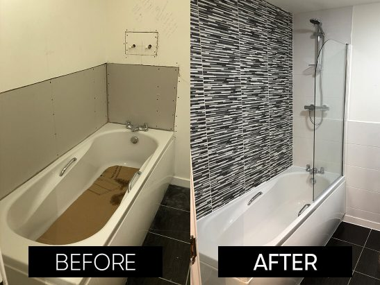 before and after bathroom 2